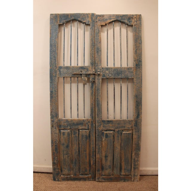 Reclaimed Architectural Wrought Iron Doors - A Pair - Image 2 of 11