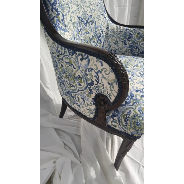 Transitional Antique Wooden Arm Chair - Image 7 of 11