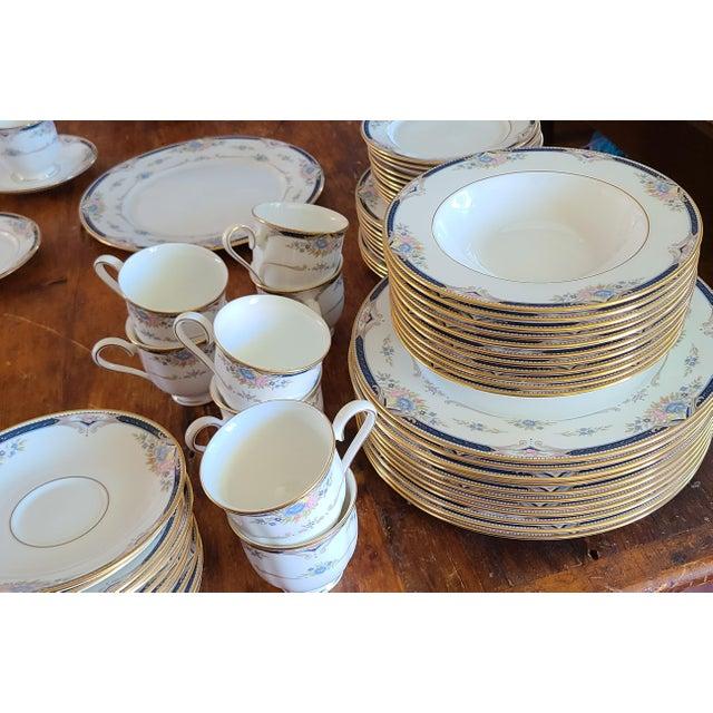 6 Piece Service for 12 Lenox Abigail Porcelain China Dinnerware Set, 1990s ~ Mint ~ For Sale - Image 11 of 13