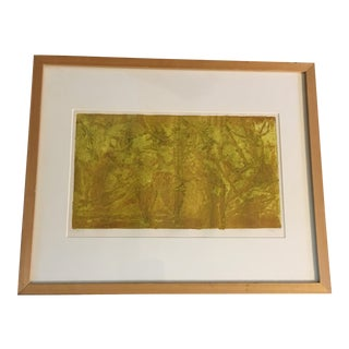 Vintage Abstract Tree Print For Sale