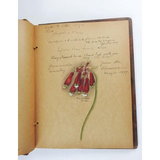 1930's Chicago Guest Book With Over 20 Paintings Preview