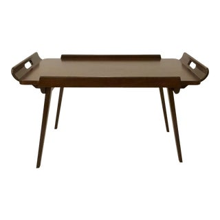 Mid-Century Modern Style Folding Wood Bed Tray By: Studio a Home For Sale