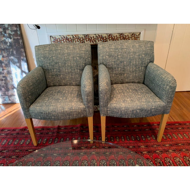 Mid-Century Modern Vintage Donghia Club Chairs - a Pair For Sale - Image 3 of 10