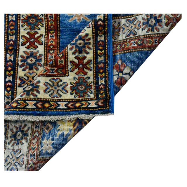Afghan Kazak Rug: Afghan Super Kazak Wool Rug- 2'x5'10''