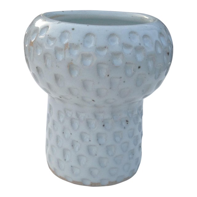 White Ceramic Pottery Vase For Sale