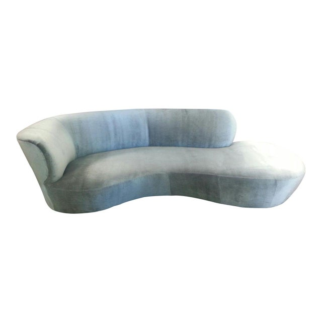 1970s Mid Century Modern Style Chaise Lounge For Sale - Image 5 of 5