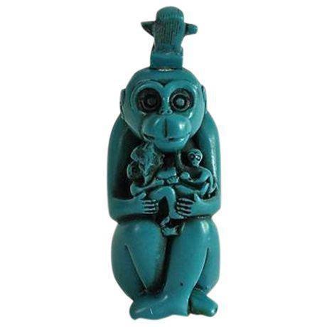 Turquoise Monkey Snuff Bottle - Image 2 of 4