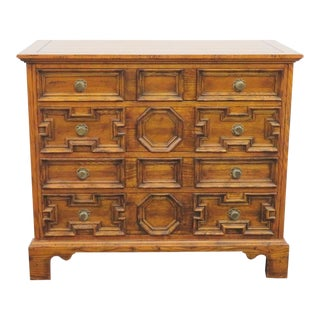 Hickory Chair Co. William & Mary Style Oak Chest For Sale