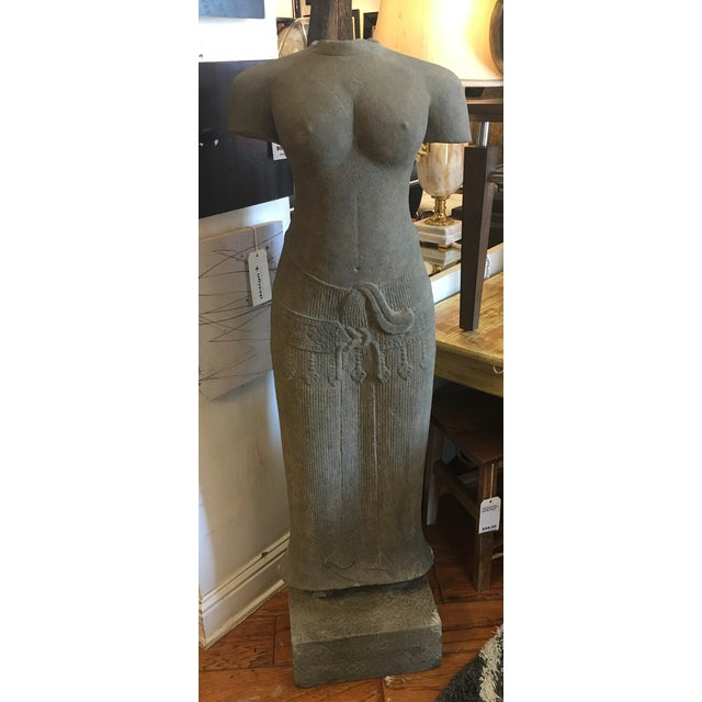 Sandstone Sculpture of a Female Form From Thailand - Image 2 of 9