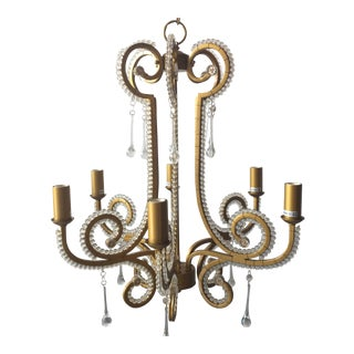 Tear Drop Scrolling Chandelier For Sale