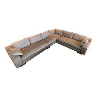 Christian Liagre Augustin Sofa Sectional in Muted Silk For Sale