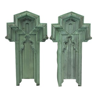 19th Century Copper Panels - A Pair For Sale