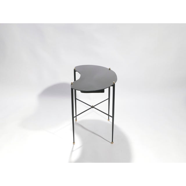 Jacques Adnet Leather Desk Vanity With Stool, 1940s For Sale - Image 9 of 13