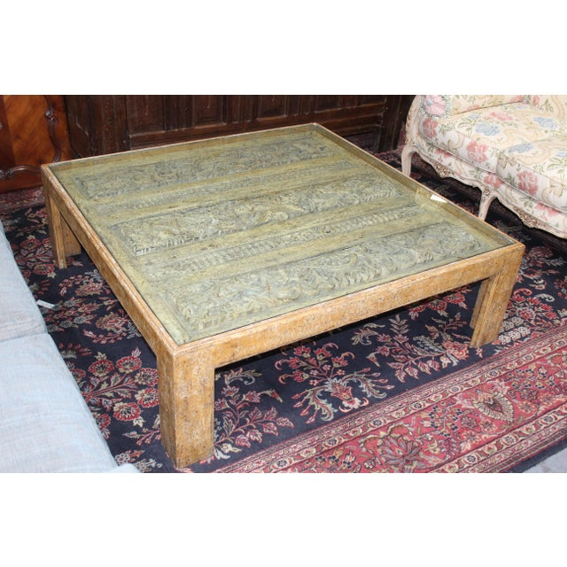 Antique Indian Architectual Fragment Custom Coffee Table For Sale - Image 4 of 8