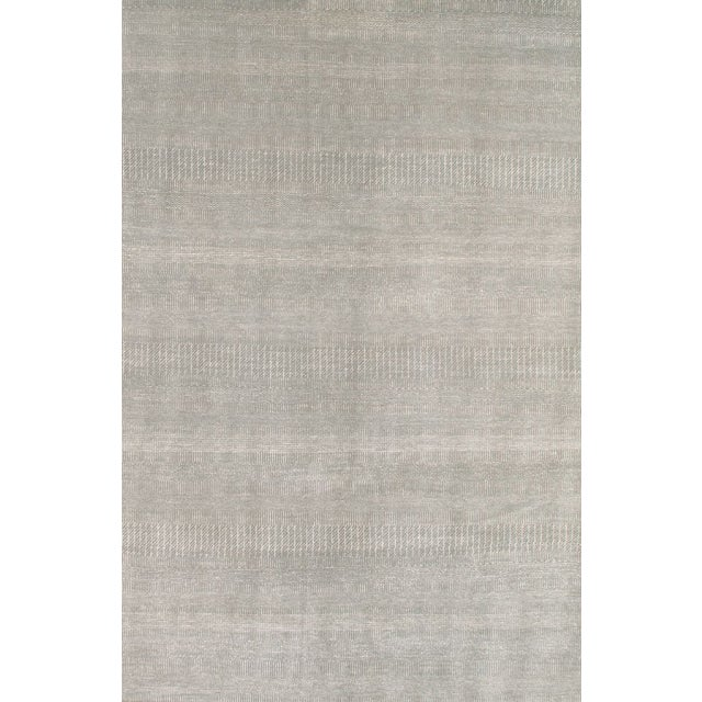 Pasargad Modern Silk & Merino Wool Area Rug- 6'x9' - Image 1 of 1