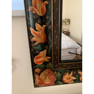 Julia Gray Hand Painted Floral Mirror Preview