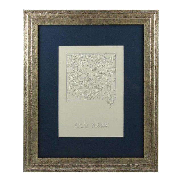 """Patrick Fionnet After Pico """"Folies Bergere"""" Facade Art Deco Lithograph For Sale"""