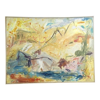 "1990s Large Original Abstract Expressionist Landscape Painting ""Western Sundance"" by Ellen Reinkraut For Sale"