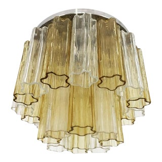 Tronchi Glass Ceiling Lamp by Venini, 1960s