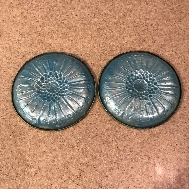 Blue Antique Chinese Enamel Plates - A Pair For Sale - Image 8 of 11