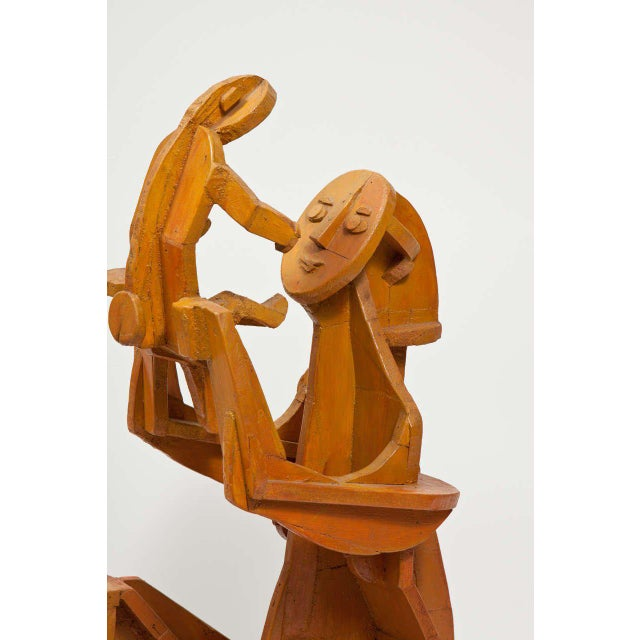 Sculpture of Mother and Child For Sale - Image 4 of 10