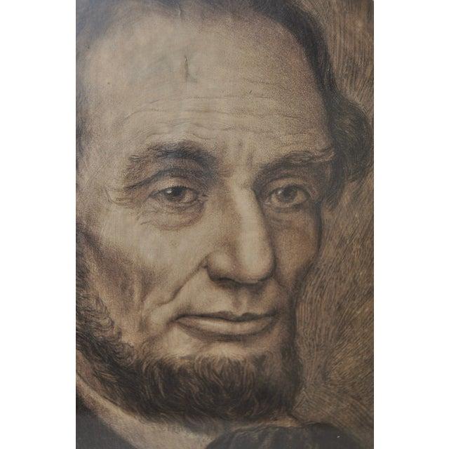 Abraham Lincoln, 19th C. Original Pencil Portrait - Image 3 of 6
