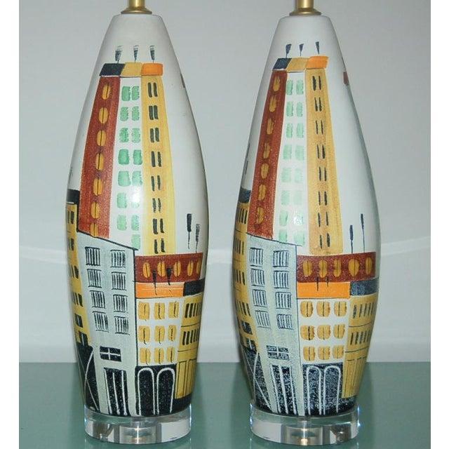 Bitossi Vintage Bitossi Italian Ceramic Cityscape Table Lamps For Sale - Image 4 of 10