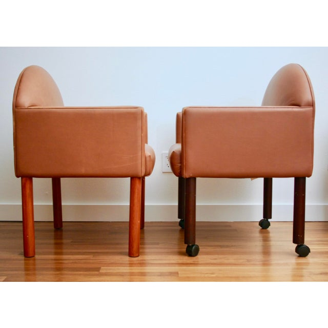 Postmodern Leather Chairs, Set of 2 For Sale - Image 5 of 11