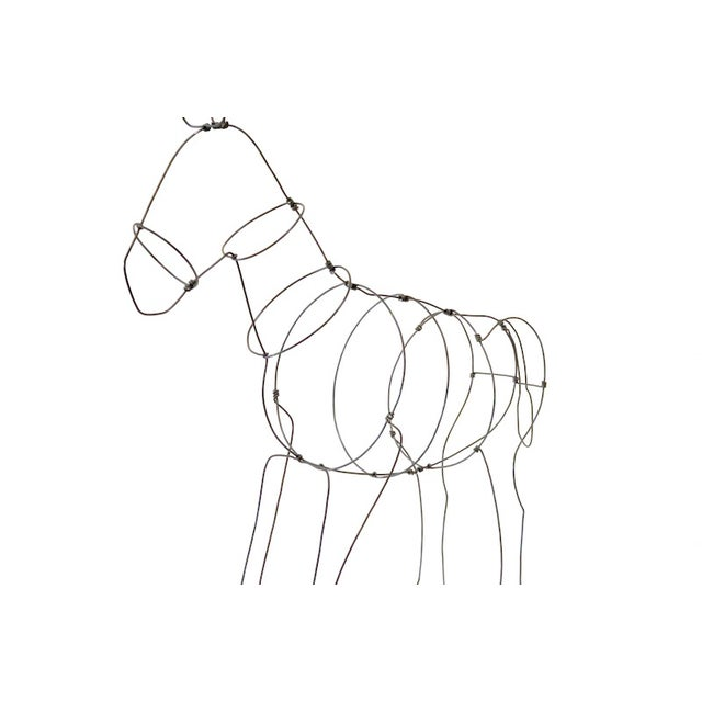 Wire Donkey Sculpture - Image 3 of 5