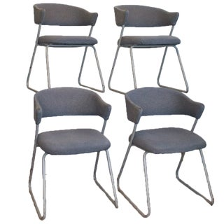 Memphis Style Dining Chairs, Set of Four with Cantilever frames For Sale