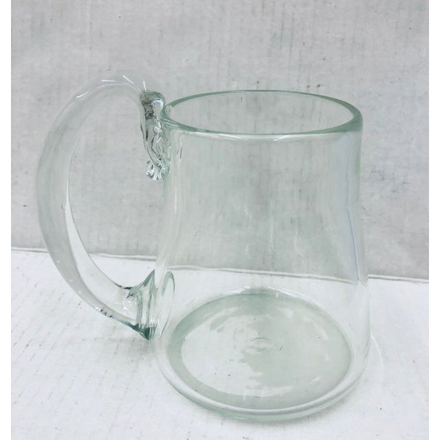 Stunning Vintage Hand Crafted/ Hand Blown Glass Pitcher Vase. Gorgeous Organic Lines and Curves! Solid and sturdy. Perfect...