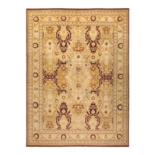 """Mogul, One-Of-A-Kind Hand-Knotted Area Rug - Red, 10' 3"""" X 13' 8"""" For Sale"""