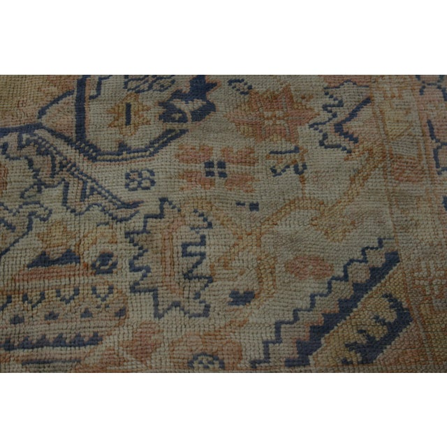 Semi-Antique Turkish Oushak Rug - 10′ × 13′3″ For Sale - Image 9 of 13