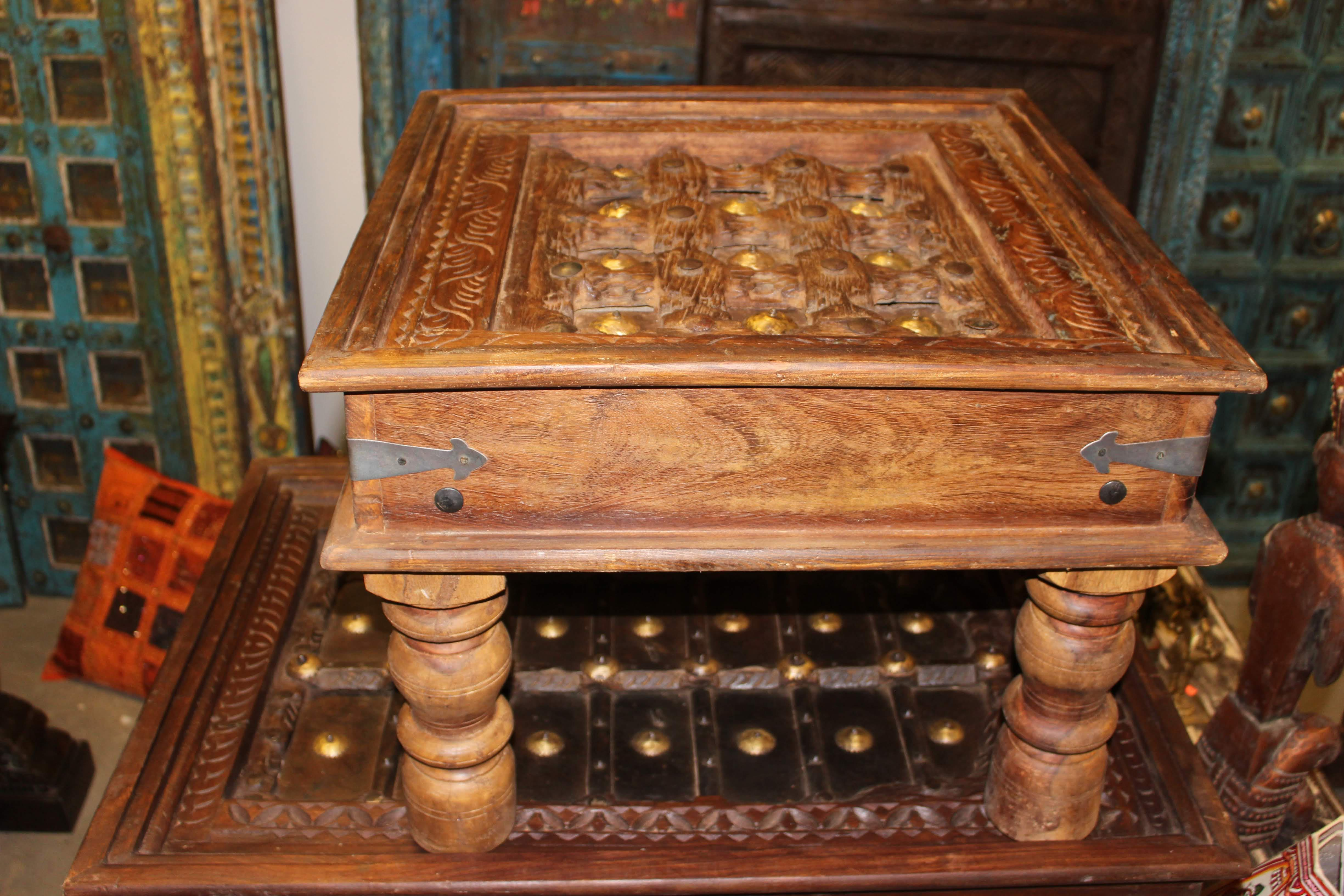 1920s Asian Antique Solid Wood Hand Carved Coffee Table For Sale   Image 4  Of 6