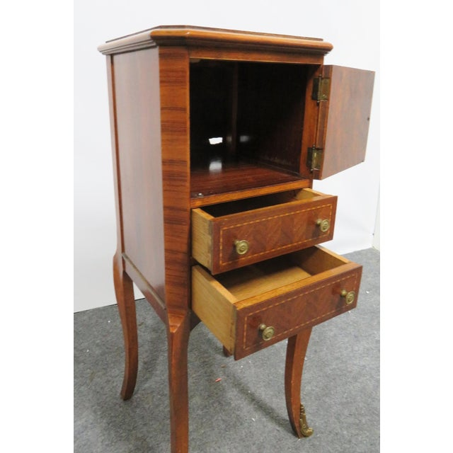 Early 20th Century Louis XV Rosewood Nightstand For Sale - Image 5 of 8