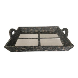 Antiqued Bliss Studio Mirror Tray For Sale