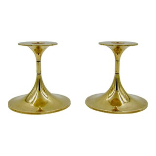 Vintage Danish Mid Century Max Brüel for Torben Orskov Hi-Fi Candle Holders - a Pair For Sale