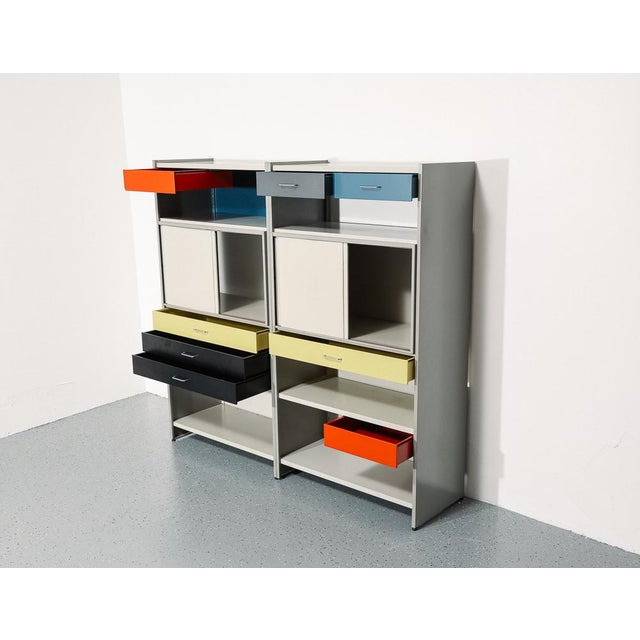 This very nice and colorful storage system was designed in 1962 by Dutch designer André Cordemeijer for Gispen. The unit...