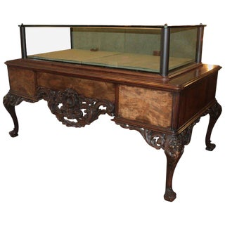 19th Century Antique Buccellati Showcase Table Vitrin