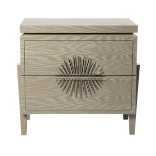 Philippe Nightstand With Drawers (Cerused Latte) For Sale