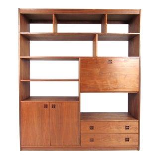 Mid-Century Walnut Bookcase or Wall Unit