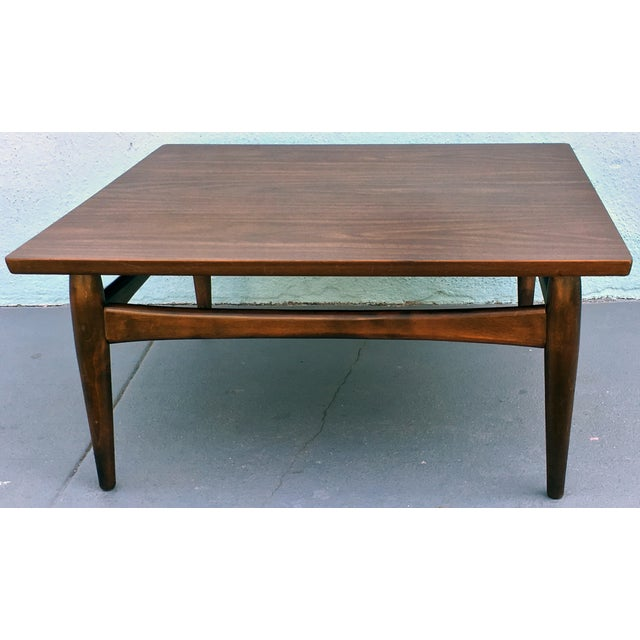 Square Mid-Century Modern Coffee Table - Image 2 of 7