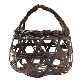 Chikuunsai II Bamboo Japanese Basket for Ikebana For Sale
