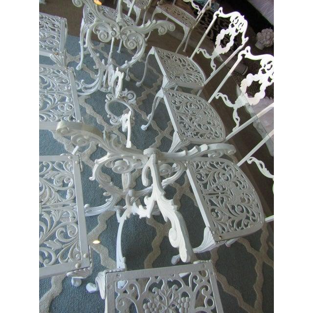 Iron & Glass Patio Set - Set of 11 - Image 5 of 8