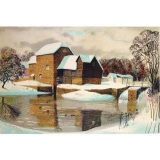 Waterwheel in Winter by Bruce Barnden