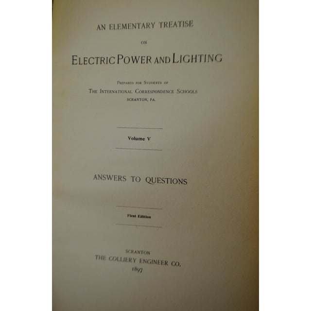 Antique 1897 an Elementary Treatise on Electric Power and Lighting Vol. I 1st Edition Book For Sale - Image 4 of 10