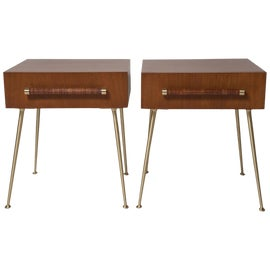 Image of Walnut Side Tables