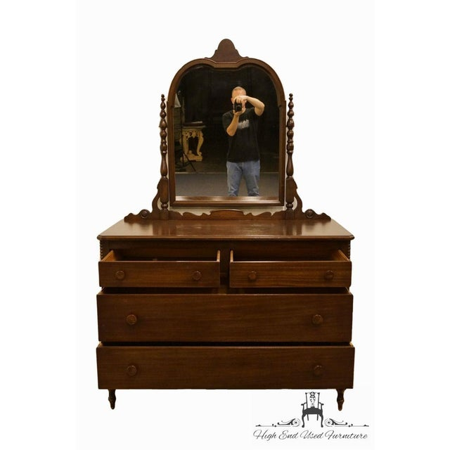 """Wood 1960s Traditional Sligh Furniture Co. Grand RapidsMahogany 48"""" Dresser With Mirror For Sale - Image 7 of 13"""