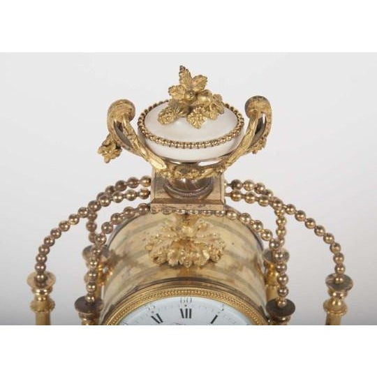 Gold 18th Century Gilt Bronze French Portico Clock For Sale - Image 8 of 12