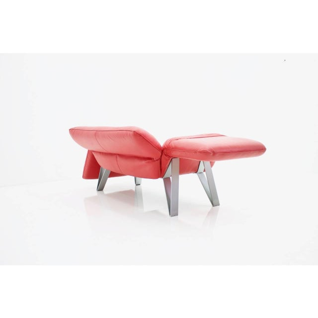 De Sede Leather Sofa Ds 142 by Wilfried Totzek in Red Swiss 1988 For Sale - Image 6 of 11